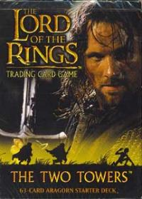 lotr tcg the two towers the two towers starter deck aragorn