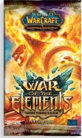 warcraft tcg warcraft sealed product war of the elements booster pack