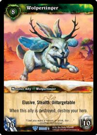 warcraft tcg foil and promo cards wolpertinger
