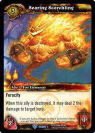 warcraft tcg foil and promo cards searing scorchling