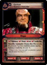 star trek 2e what you leave behind gorkon visionary chancellor