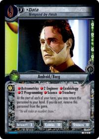 star trek 2e what you leave behind data tempted by flesh foil