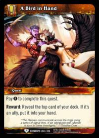 warcraft tcg war of the elements a bird in hand