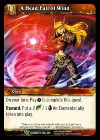 warcraft tcg war of the elements a head full of wind