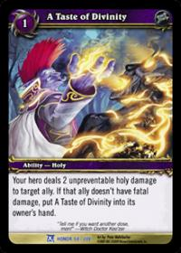 warcraft tcg fields of honor a taste of divinity