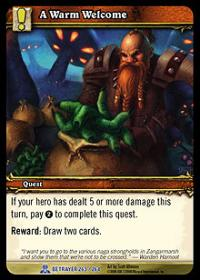 warcraft tcg servants of betrayer a warm welcome