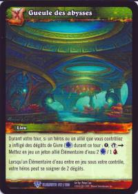warcraft tcg war of the elements french abyssal maw french