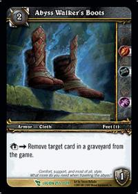 warcraft tcg archives abyss walker s boots foil