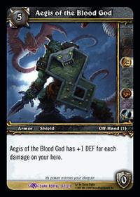warcraft tcg the dark portal aegis of the blood god