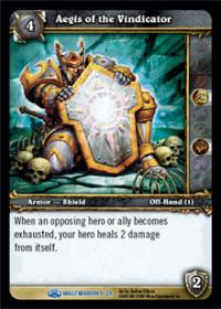 warcraft tcg magtheridons lair aegis of the vindicator