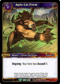 warcraft tcg reign of fire agile cat form