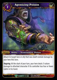 warcraft tcg war of the elements agonizing poison