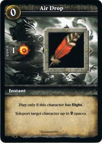 wow minis core action cards air drop