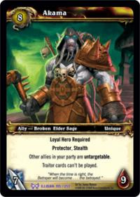 warcraft tcg the hunt for illidan akama