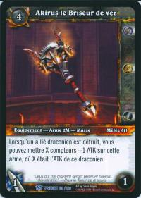 warcraft tcg twilight of dragons foreign akirus the worm breaker french