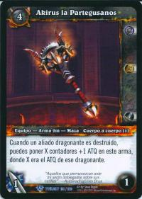 warcraft tcg twilight of dragons foreign akirus the worm breaker spanish