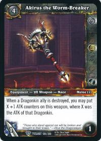 warcraft tcg twilight of the dragons akirus the worm breaker