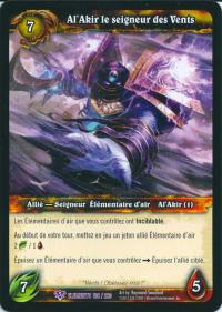 warcraft tcg war of the elements french al akir the windlord french