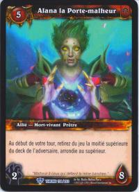 warcraft tcg throne of the tides french alana the woebringer french