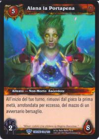 warcraft tcg throne of the tides italian alana the woebringer italian