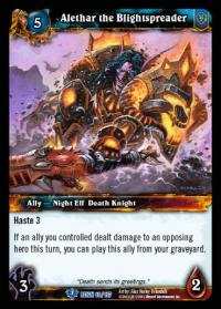 warcraft tcg reign of fire alethar the blightspreader