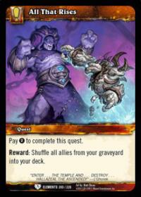 warcraft tcg war of the elements all that rises