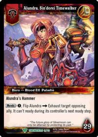 warcraft tcg war of the ancients alundra sin dorei timewalker