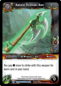 warcraft tcg caverns of time amani venom axe