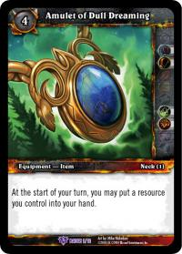 warcraft tcg crafted cards amulet of dull dreaming