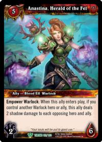 warcraft tcg throne of the tides anastina herald of the fel