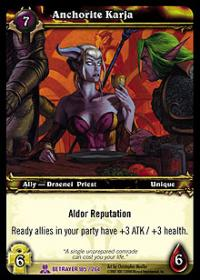 warcraft tcg servants of betrayer anchorite karja