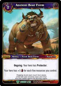 warcraft tcg war of the ancients ancient bear form