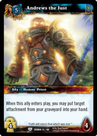 warcraft tcg crown of the heavens andrews the just