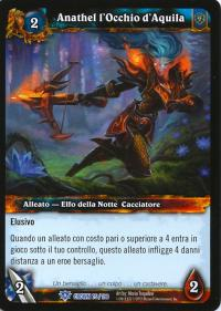 warcraft tcg crown of the heavens foreign anathel the eagle eye italian