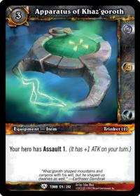 warcraft tcg tomb of the forgotten apparatus of khaz goroth