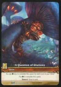 warcraft tcg archives a question of gluttony ea foil