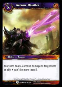 warcraft tcg war of the elements arcane missiles