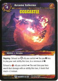 warcraft tcg war of the elements arcane inferno
