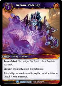 warcraft tcg war of the ancients arcane potency
