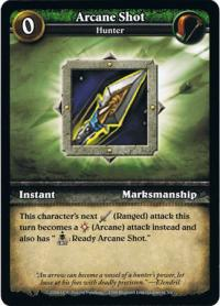 wow minis core action cards arcane shot