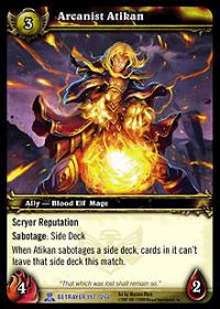 warcraft tcg servants of betrayer arcanist atikan