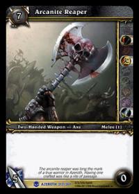 warcraft tcg heroes of azeroth arcanite reaper