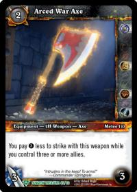 warcraft tcg dungeon deck treasure arced war axe