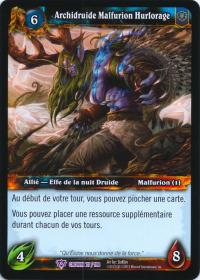 warcraft tcg crown of the heavens foreign archdruid malfurion stormrage french