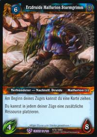 warcraft tcg crown of the heavens foreign archdruid malfurion stormrage german