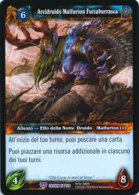 warcraft tcg crown of the heavens foreign archdruid malfurion stormrage italian