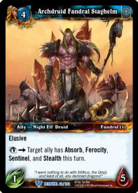 warcraft tcg betrayal of the guardian archdruid fandral staghelm