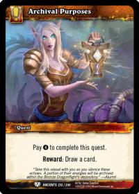warcraft tcg war of the ancients archival purposes