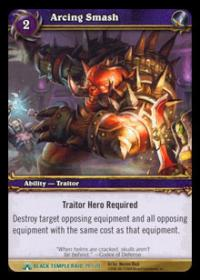 warcraft tcg black temple arcing smash