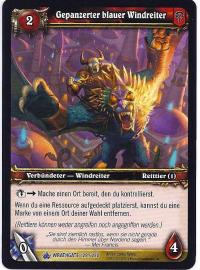 warcraft tcg wrathgate armored blue wind rider german